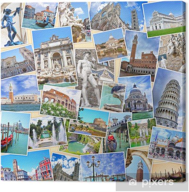 Obraz na płótnie Stos zdjęć podróży z Włoch (Moje zdjęcia). Słynne zabytki - Europa