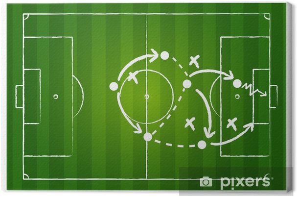 Obraz na płótnie Strategia gry Soccer - Sporty drużynowe