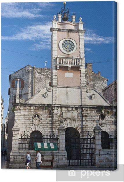 Obraz na płótnie Straż Miejska Zadar z dzwonnicą - Europa