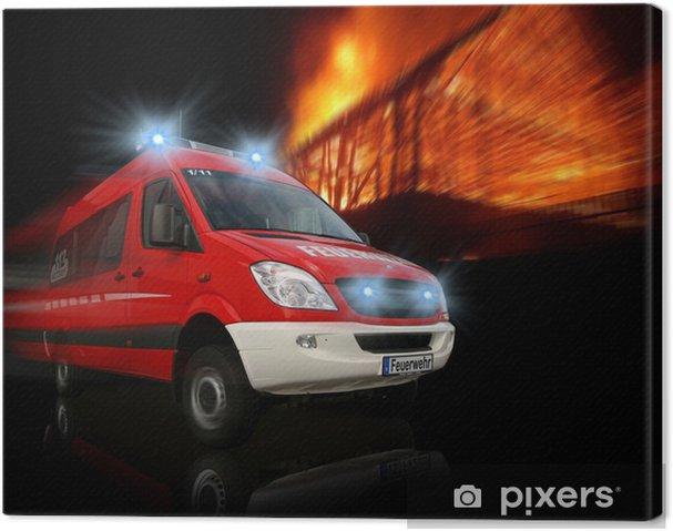 Obraz na płótnie Straż Pożarna - Zawody