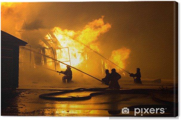 Obraz na płótnie Strażacy w pracy - Zawody