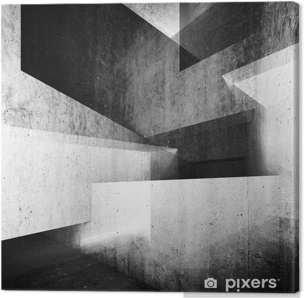 Obraz na płótnie Streszczenie białe tło wnętrze betonu 3 d - Budynki i architektura