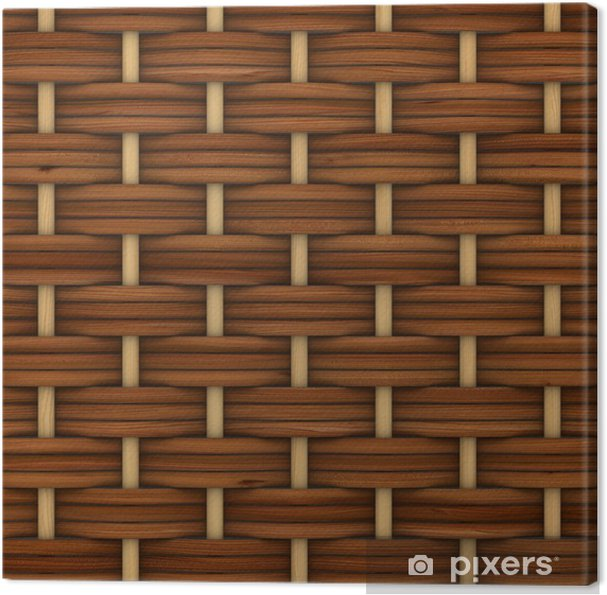 Obraz na płótnie Streszczenie dekoracyjny drewniany teksturowane kosz tkania. Obraz 3D - Ekologia
