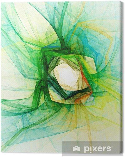 Obraz na płótnie Streszczenie fraktalna tło na białym - Abstrakcja