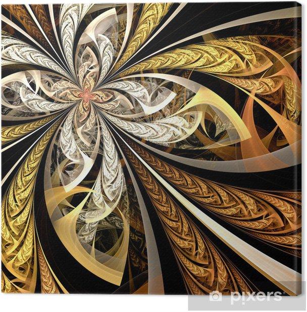 Obraz na płótnie Streszczenie Kolorowe kwiatów Fractal cyfrowych - Abstrakcja