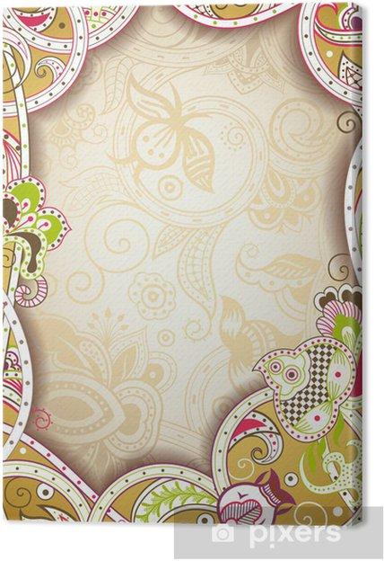Obraz na płótnie Streszczenie kwiatów ramka tle - Tła