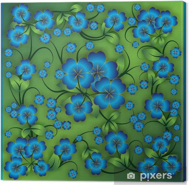 Obraz na płótnie Streszczenie kwiatów tle z ornamentem wiosennej - Tła
