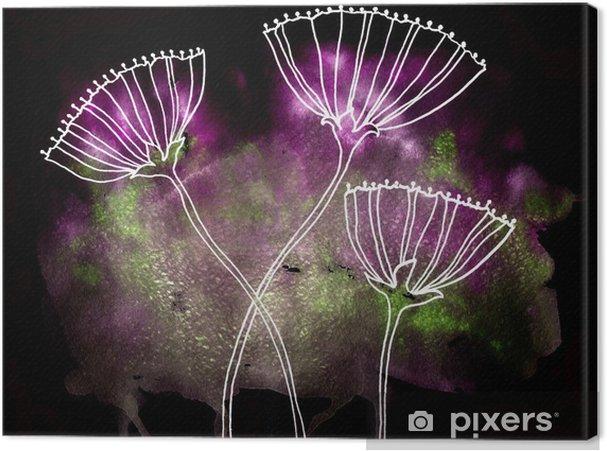 Obraz na płótnie Streszczenie kwiatowy akwarela - Tekstury