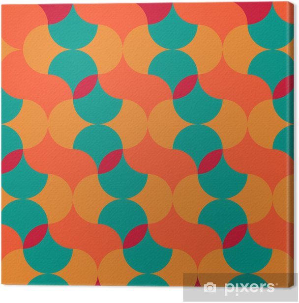 Obraz na płótnie Streszczenie retro geometryczny wzór - Tła