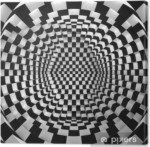Obraz na płótnie Streszczenie sztuki optycznej -