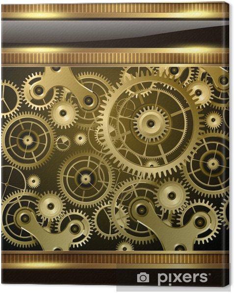Obraz na płótnie Streszczenie technologii tle złota elektryczny - Sprzedaż