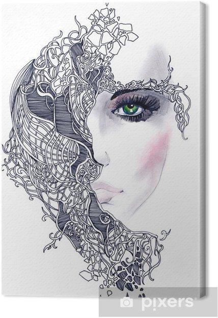 Obraz na płótnie Streszczenie twarz kobiety - Style
