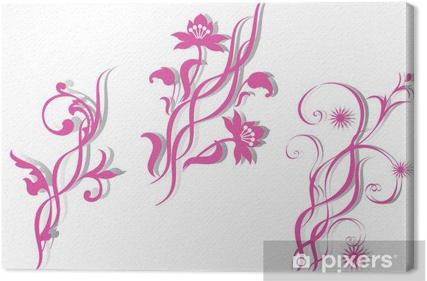 Obraz na płótnie Streszczenie wzór z kwiatów. - Tła