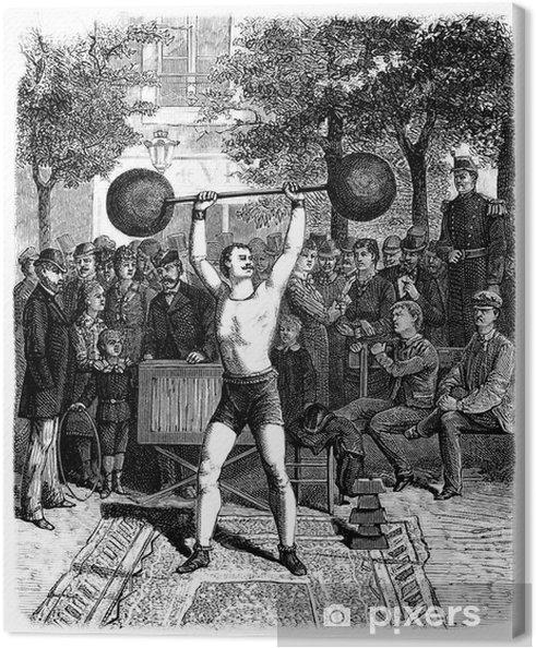 Obraz na płótnie Strong Man - 19 wieku - Sporty indywidualne