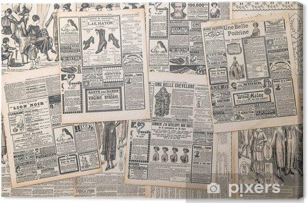Obraz na płótnie Strony gazet z antykami ogłoszenia - Tekstury
