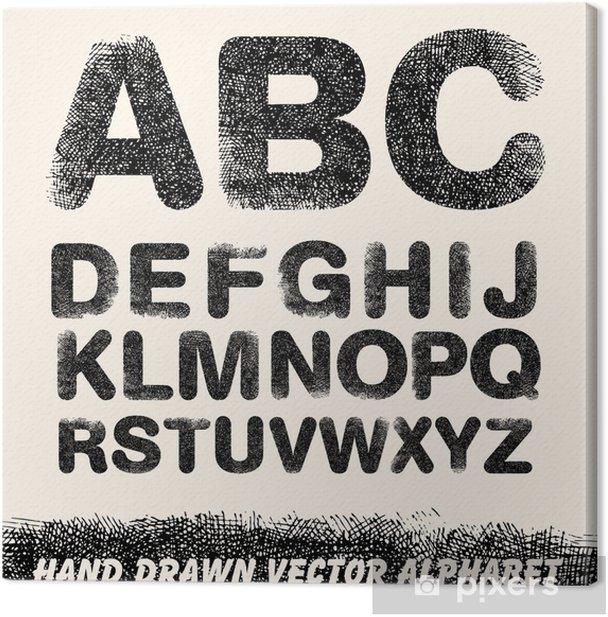 Obraz na płótnie Strony rysunku Alfabet - Tematy
