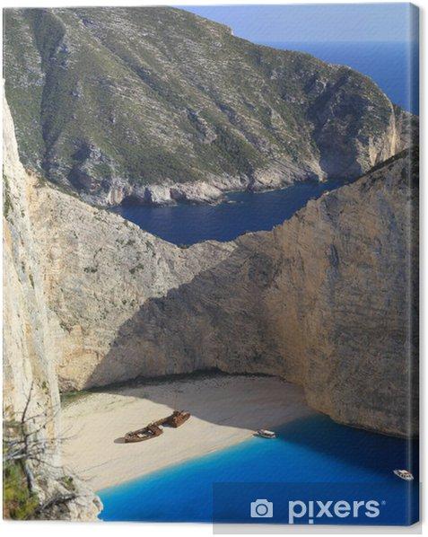 Obraz na płótnie Stuning krajobraz plaży z wraku statku - Europa