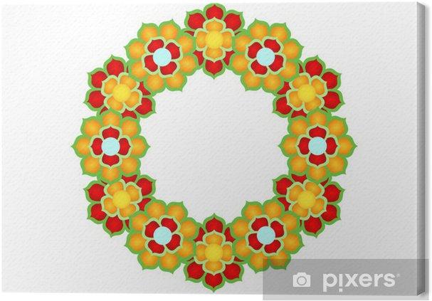 Obraz na płótnie Stylizowany wzór kwiatu lotosu - Azja