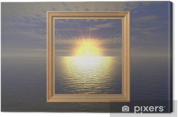 Obraz na płótnie Sunset-frame - Wakacje