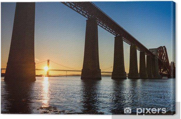Obraz na płótnie Sunset między dwoma mostami w lecie - Tematy