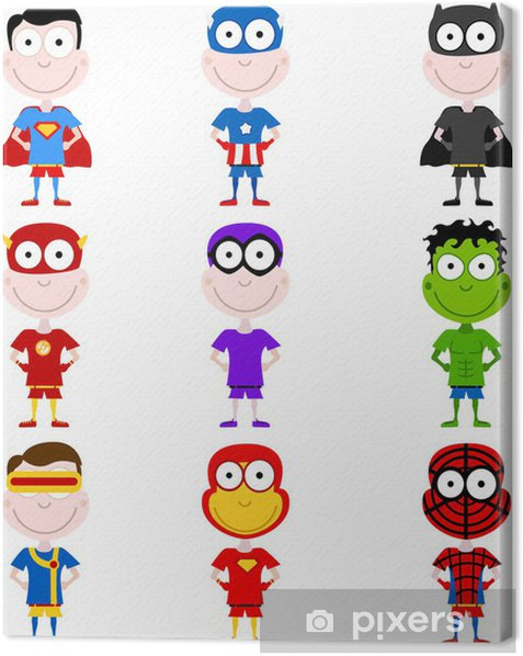 Obraz na płótnie Superbohaterowie dziecko -