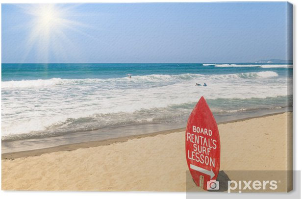 Obraz na płótnie Surf School na tropikalnej plaży - Woda