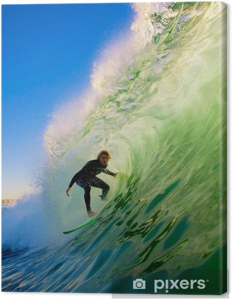 Obraz na płótnie Surfer na fali Błękitny ocean - Tematy