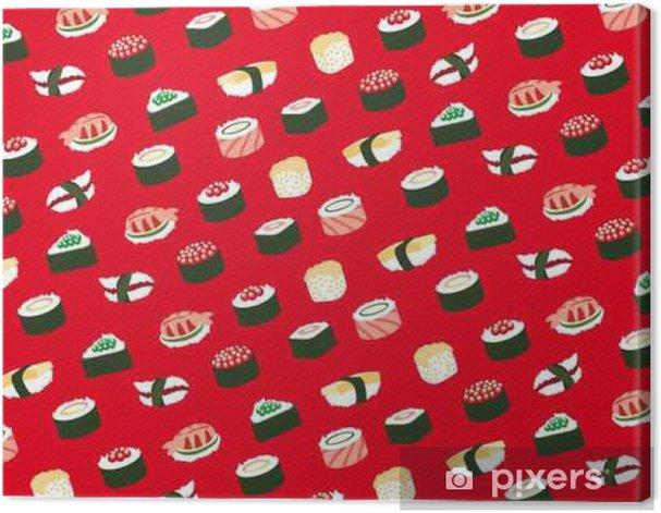 Obraz na płótnie Sushi, bez szwu wzór - Jedzenie