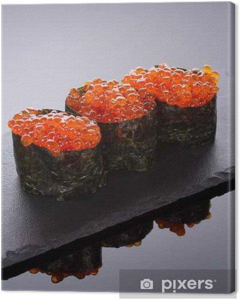 Obraz na płótnie Sushi Gunkan na płycie kamiennej - Jedzenie