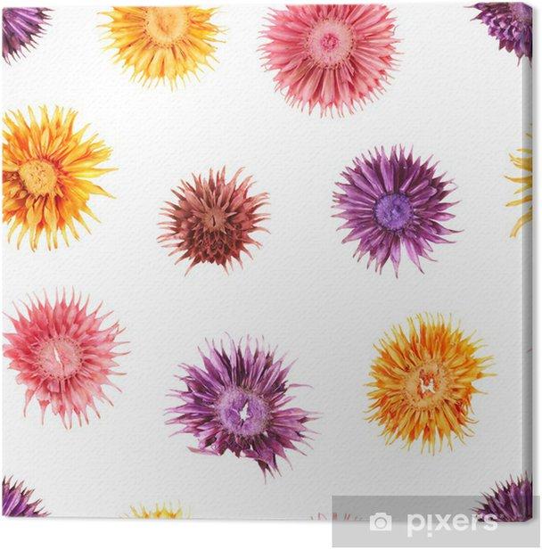 Obraz na płótnie Suszone kwiaty bez szwu wzór - Kwiaty