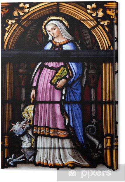 Obraz na płótnie Św Gudula w katedrze św Gudula w Brukseli - Religie
