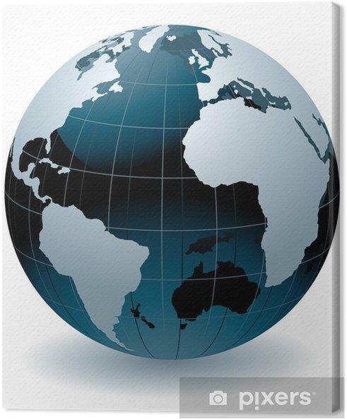 Obraz na płótnie Świat świata streszczenie ilustracji wektorowych - Przestrzeń kosmiczna