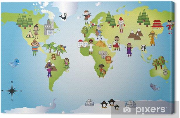 Obraz na płótnie Świat - Pokój