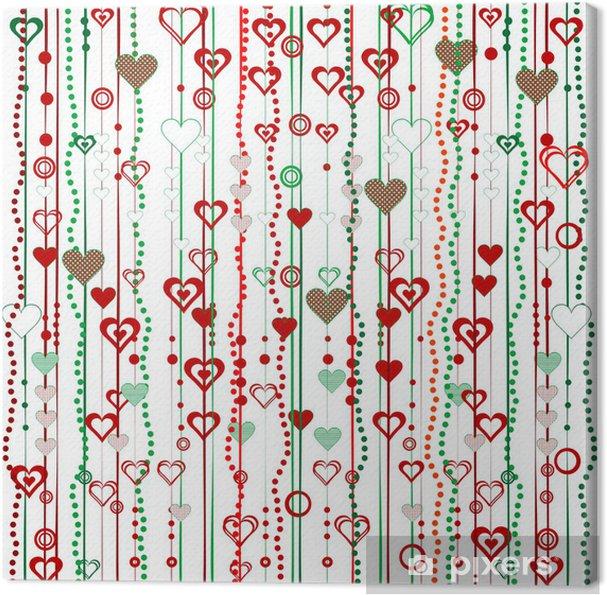 Obraz na płótnie Świąteczne girlandy z serca - Tła