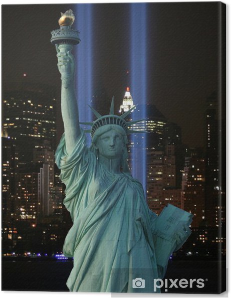 Obraz na płótnie Światła liberty - Miasta amerykańskie