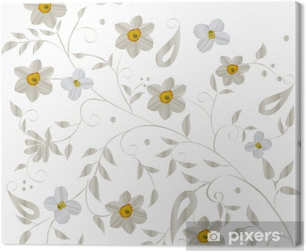 Obraz na płótnie Światło w tle z narcyza - Kwiaty