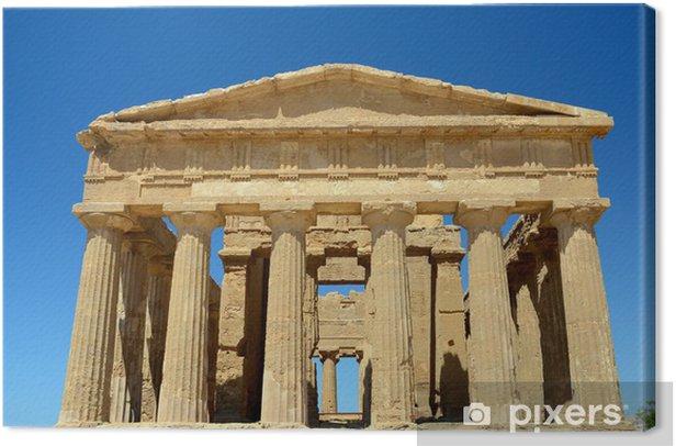 Obraz na płótnie Świątynia Zgody w Agrigento, Włochy - Europa