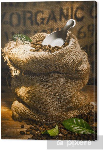 Obraz na płótnie Świeże palonych ziaren kawy organiczne - Tematy