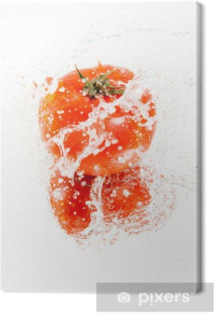 Obraz na płótnie Świeże pomidory w plusk wody - Tematy
