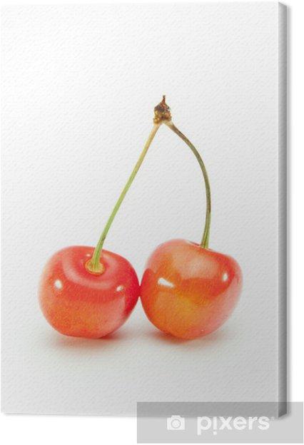 Obraz na płótnie Świeże wiśnie - Posiłki