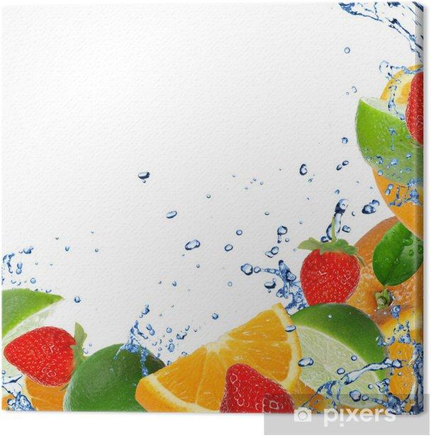 Obraz na płótnie Świeże zdrowych owoców background z zalewaniem - Owoce