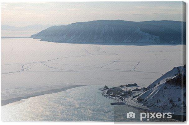 Obraz na płótnie Syberia, jezioro Bajkał, wieczorem, źródła rzeki Angara - Woda