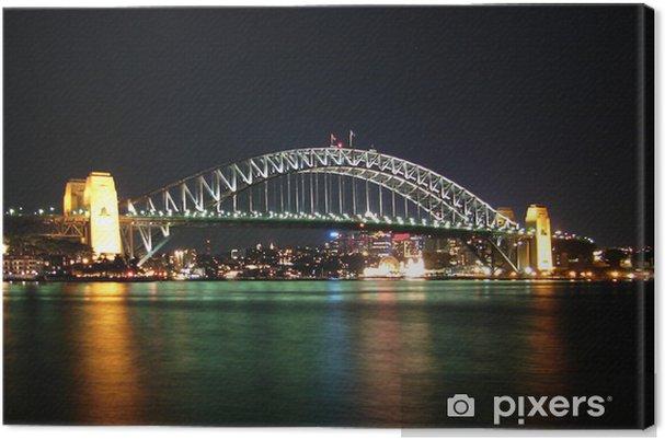 Obraz na płótnie Sydney Harbour Bridge w nocy - Tematy
