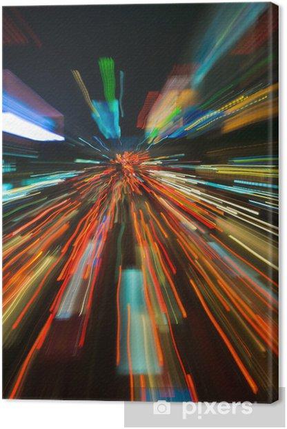 Obraz na płótnie Sygnalizacja świetlna w motion blur - Transport drogowy