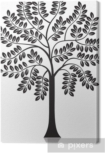 Obraz na płótnie Sylwetka drzewa - Drzewa