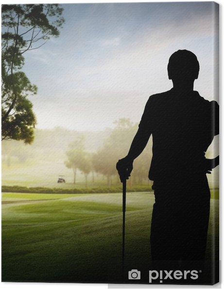 Obraz na płótnie Sylwetka gracz - Sporty indywidualne
