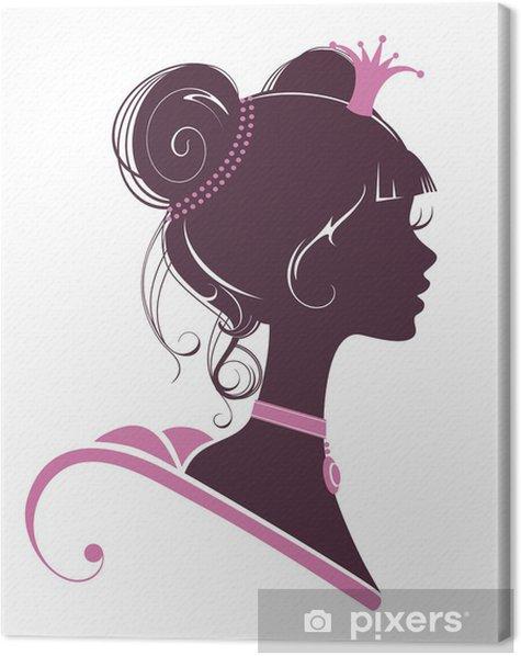 Obraz na płótnie Sylwetka Księżniczka - Moda