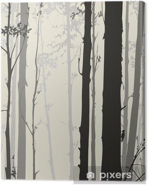 Obraz na płótnie Sylwetka lesie - Krajobrazy