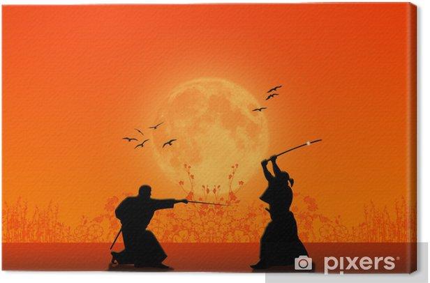 Obraz na płótnie Sylwetka Samurai - Style