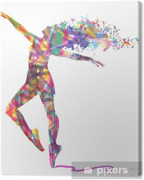 Obraz na płótnie Sylwetka tancerza składa się z kolorów - Zasoby graficzne